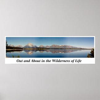 Ut och omkring i vildmarken av liv poster