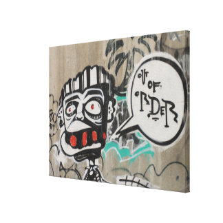 Ut ur beställa grafitti canvastryck