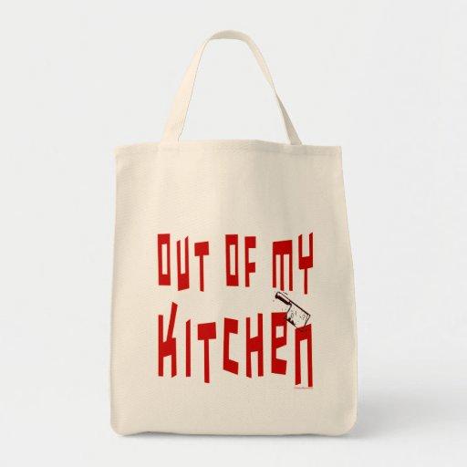 Ut ur min för kockslogan för kök roliga toto hänga tote bags