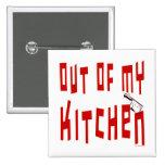 Ut ur min roliga slogan för kök knäppas nål