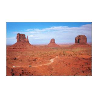 Utah. Arizona gräns, Navajonation, monument Canvastryck