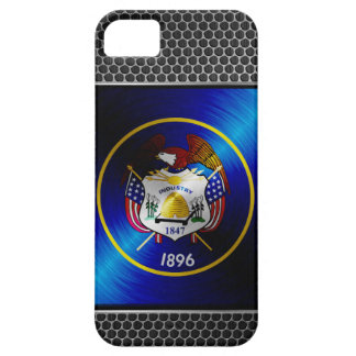 Utah borstade metallflagga iPhone 5 Case-Mate cases