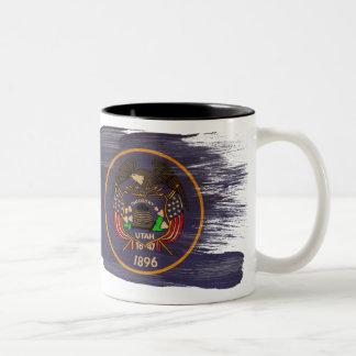 Utah flaggamugg Två-Tonad mugg