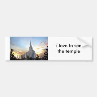 Utah för LDS-mormonOquirrh berg tempel Bildekal