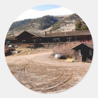Utah kabin runt klistermärke