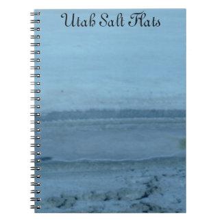 Utah salt lägenheter anteckningsbok med spiral