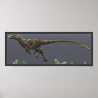 Utahraptor tryck