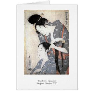 Utamaro frisör hälsningskort