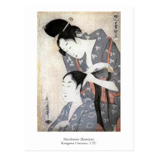 Utamaro frisör vykort