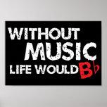 Utan musik liv skulle b-lägenhet! posters