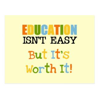 Utbildning är värd det vykort