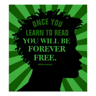Utbildningscitationstecken av Frederick Douglass Poster