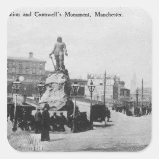 Utbytesstation- och Cromwells monument Fyrkantigt Klistermärke