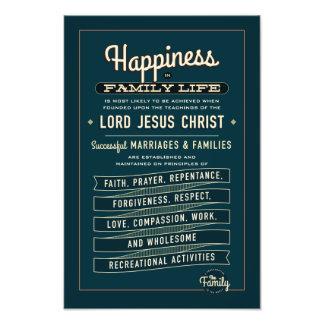 Utdrag för LDS-familjkungörelse. fototryck