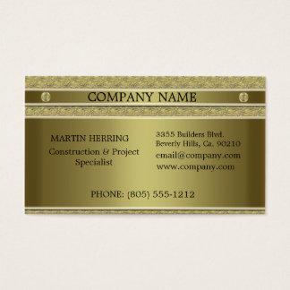 Utföra i relief guld- metall för konstruktion visitkort
