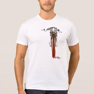 Utformad motorcykel för CafeRacer frontal röd T-shirt