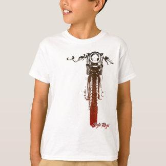 Utformad motorcykel för CafeRacer frontal röd T-shirts