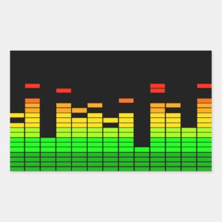 UtjämnareVibes från takten av DJ-musikdekoren Rektangulärt Klistermärke