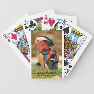 utklädd anka spelkort