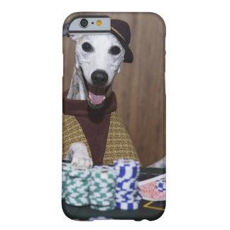 Utklädd Whippet hund på dobbleribord Barely There iPhone 6 Skal