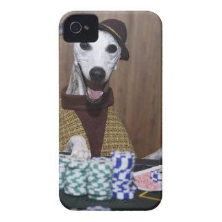 Utklädd Whippet hund på dobbleribord iPhone 4 Fodraler