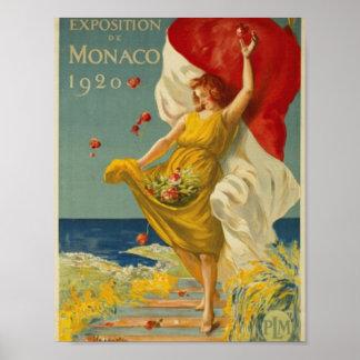 Utläggning av Monaco 1920 Poster