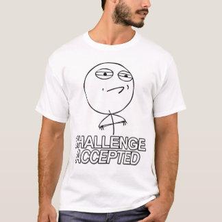 Utmaning accepterad skjorta för grabb T T-shirts