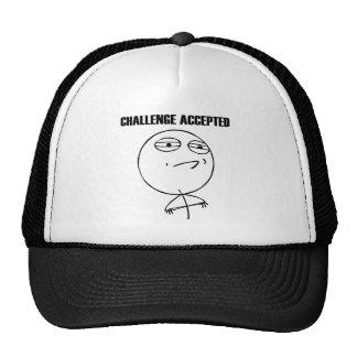 Utmaning accepterade Meme (från reddit och 9gag) Mesh Kepsar
