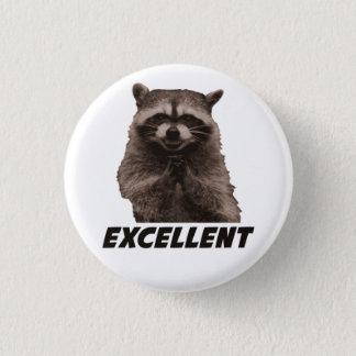 Utmärkt ond konspirera Raccoon Mini Knapp Rund 3.2 Cm