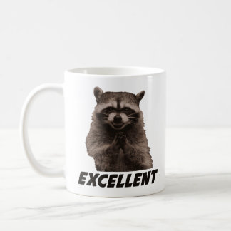 Utmärkt ond konspirera Raccoon Vit Mugg