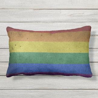 Utomhus- dämpa dekoren för prideflaggaregnbågen dekorativ kudde