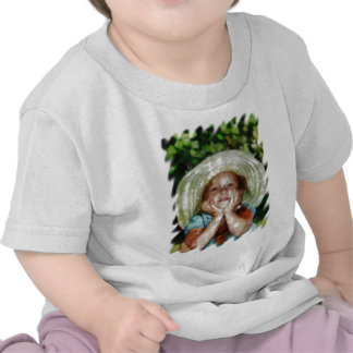 Utomhus- målning för gullig flicka tee shirts