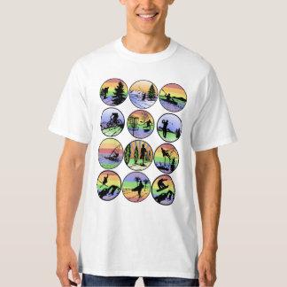 Utomhus- sportar tee shirt