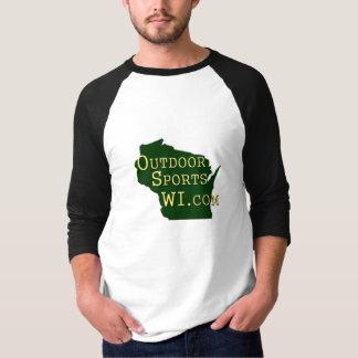 Utomhus- sportar Wisconsin - logotypskjorta Tee Shirt