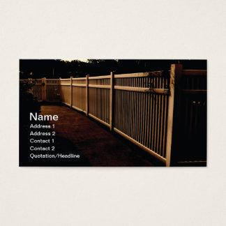 utomhus- staket för vitvinyl visitkort