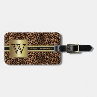Utöva stil för LeopardMonogram Bagage Etiketter