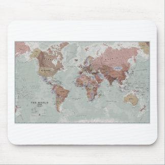 Utöva världskarta musmattor