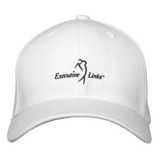 Utöva vit anknyter den inpassade hatten broderad keps