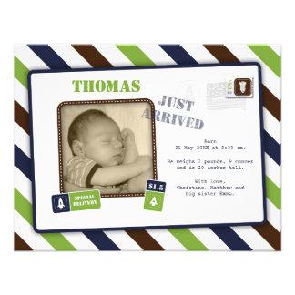 Utrymme flyger födelsemeddelandet TBA Inbjudningar