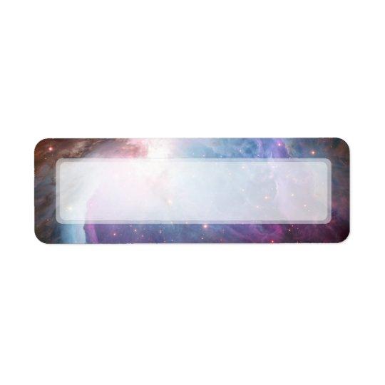 Utrymme för Orion Nebulalilor Returadress Etikett