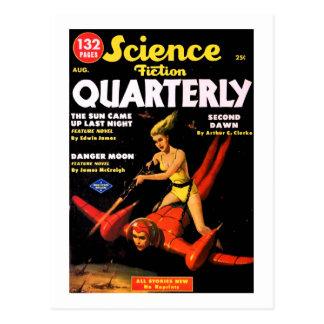 Utrymme för vintagescience fictionquarterlyen vykort