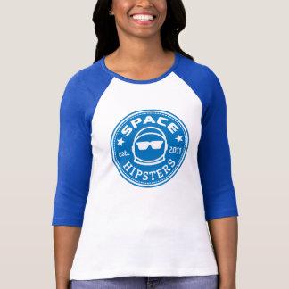 UtrymmeHipsters® kvinna sleeve Jersey för logotyp T-shirt