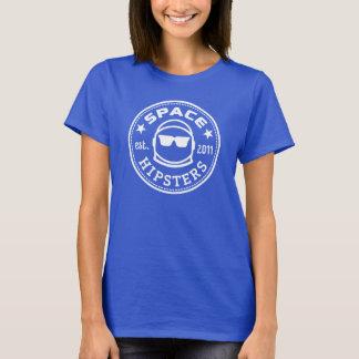 UtrymmeHipsters® kvinna utslagsplats för logotyp Tee Shirts
