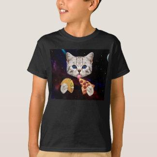 Utrymmekatt med tacoen och pizza t shirts