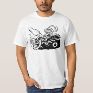 Utrymmetioarmad bläckfisk tshirts