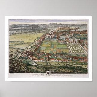 Utsikten av Nottingham från den inristade öster Poster