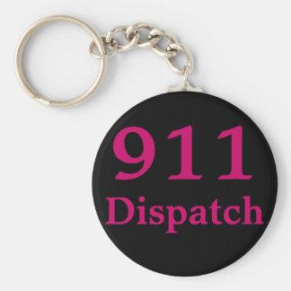 Utskick 911 centrerar rund nyckelring