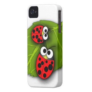 Utskjutande blackberry boldfodral för nyckelpiga iPhone 4 hud