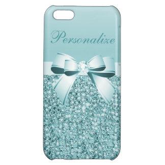 Utskrivaven krickablåttSequins, pilbåge & diamant iPhone 5C Fodral