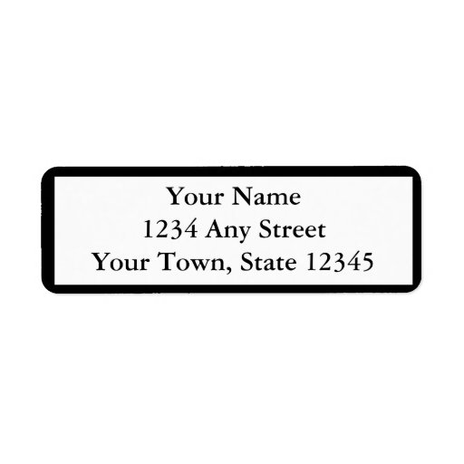 Utskrivaven returetiketter för anpassningsbar returadress etikett